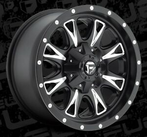 Fuel Throttle D513 18x9 8x180 Et20 Black Wheels Rims Set Of 4