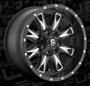 Fuel Throttle D513 20x10 6x135 6x5 5 Et 12 Black Wheels Rims Set Of 4