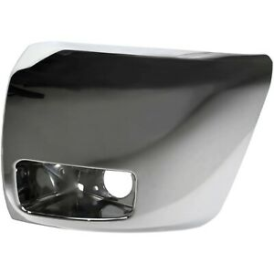 Bumper End Cap For 2007 2013 Chevrolet Silverado 1500 Front Left Side Chrome