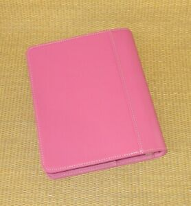 Classic 1 25 Rings new Pink Leather Franklin Covey Open Planner binder