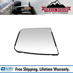 Mirror Glass With Backing Plate Manual For Chevy Silverado Gmc Sierra 3500