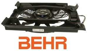 Behr A c Condenser Front Auxiliary Cooling Electric Fan Motor For Bmw 5 Series