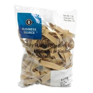 Business Source 15751 Rubber Bands Size 84 1 Lb Bag 3 5 X 5 Inches