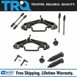 12 Piece Front Kit Tie Rod Sway Bar Control Arm Ball Joint For 02 05 Ford 4 0l