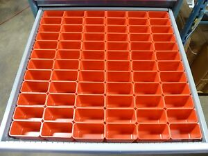 72 2 x4 x3 Deep Plastic Boxes lista Vidmar Waterloo Toolbox Organizer Box Cups