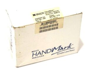 New Brady Handimark 42012 White Ribbon Cartridge