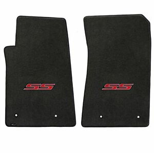 Lloyd Mats Velourtex 2 Piece Front Floor Mat Set Ebony 2010 2015 Camaro Ss Logo