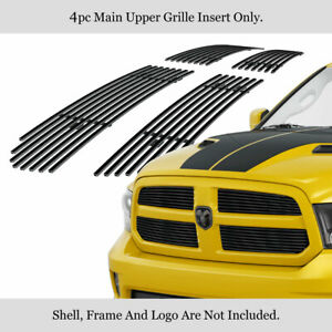 Fits 2013 2018 Ram 1500 Upper Honeycomb Style Only Black Billet Grille Insert