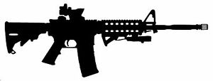 Ar 15 Vinyl Decal Sticker Car Window Wall Bumper Gun Ammo Assault Rifle M16 5 56
