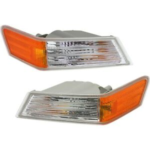 Parking Light Turn Signal Directional Lamp Front Pair Set For 07 14 Jeep Patriot