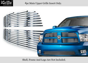 Fits 2009 2012 Dodge Ram 1500 Pickup Stainless Steel Billet Grille Grill Insert