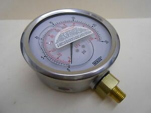 Wika 4 0 30 Psi 1 4 Npt Bottom Mount Glycerine Filled Pressure Gauge
