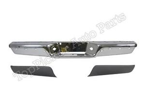 Rear Step Bumper Chrome Bar Face Gray Cover Set For 1997 2004 Dodge Dakota