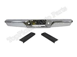 For 1997 2004 Dodge Dakota Rear Step Bumper Chrome Face Bar Inner Bracket 3pcs