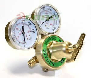 Dual Welding Gauge Brass Regulator Oxygen Cga 541 Fit Victor Type Torch