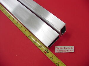 2 Pieces 1 x 2 x 1 8 Wall Aluminum Rectangle Tube 6063 T52 X 48 Long
