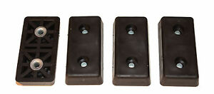 20 Extra Large Rectangular Rubber Feet Industrial Amps Cases Free S