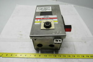 Square D Hu361dskvwei 30 Amp Hd Disconnect Safety Switch Stainless Non Fused