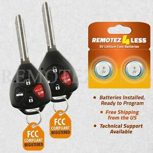 Replacement For 2011 Toyota Camry Keyless Entry Remote Car Key Fob G Pair
