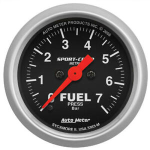 Auto Meter Fuel Pressure Gauge 3363 m Sport comp 0 To 7 Bar 2 1 16 Electrical