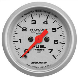 Auto Meter Fuel Pressure Gauge 4363 m Ultra lite 0 To 7 Bar 2 1 16 Electrical