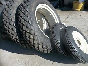 Two 12 4x28 6 Ply R3 Two 600x16 Ford Jubilee 2n 8n Farm Tractor Tires W wheels