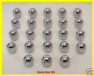Model A Ford Deluxe Roadster Chrome Acorn Lug Nut Set 26 Pieces New 1928 1931