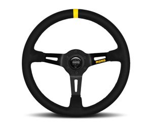 Momo Steering Wheel Mod 08 Black Suede 350mm Momo Suede Brush us Dealer