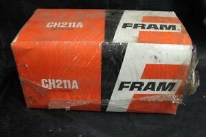 Vintage Nos Fram Oil Filter Ch 211a Cummins Gm Fleetgruard Kenworth White