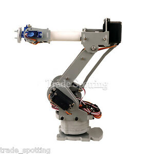 Fully Assembled 6 axis Mechanical Robotic Arm For Arduino With Servo Motors