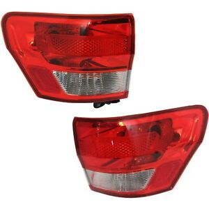 Set Of 2 Tail Light For 2011 2013 Jeep Grand Cherokee Lh Rh Outer