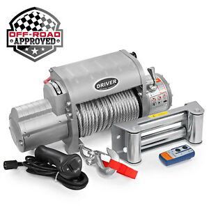 Electric Wireless Self Recovery Winch For Jeep Truck Suv 12 000 Lb