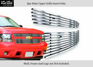 For 2007 2014 Chevy Tahoe Suburban Avalanche Stainless Steel Billet Grille