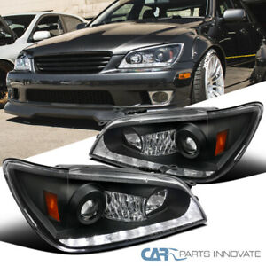 For 01 05 Lexus Is300 Black Integrated Led Signal Projector Headlights Pair