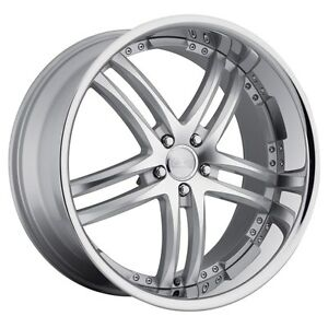 22x10 5 Concept One Rs55 5x112 Et42 Silver Machined Wheels set Of 4