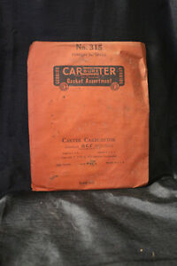 Nos Vintage Carter Carburetor Gasket Assortment No 315 Cadillac 1470755
