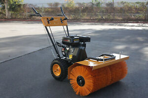 31 Walk Behind Forward Reverse 196cc 6 5hp Gas Power Sweeper Lawn Gravel Turf