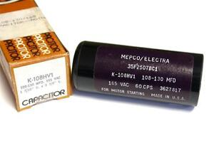 Brand New In Box Mepco Electra Capacitor 165vac 60cps 108 130mfd K108hv1