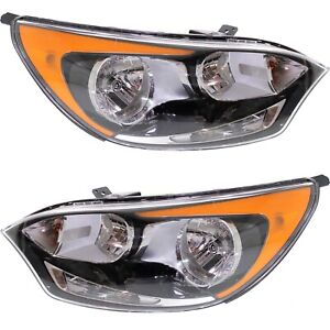 Headlight Set For 2012 2017 Kia Rio Hatchback Left And Right With Bulb 2pc