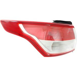 Halogen Tail Light For 2013 2016 Ford Escape Left Clear Red Lens W Bulbs Capa