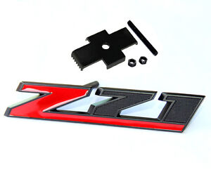 Oem Matt Black Grille Z71 Emblem For Gm Chevrolet Silverado Sierra Tahoe Uw Red
