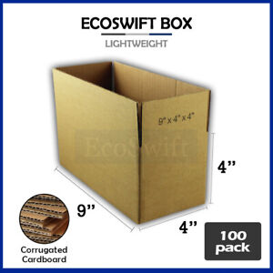 100 9x4x4 Cardboard Packing Mailing Moving Shipping Boxes Corrugated Box Cartons
