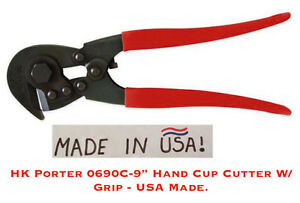 H k Porter 0690c 9 Hand Clip Cutter W grip Usa Made Heavy Duty