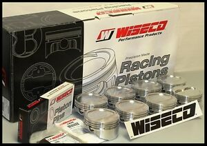 Sbc Chevy 350 Wiseco Forged Pistons Std Bore 10cc Rd Dish Top Kp421as