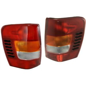 99 04 For Jeep Grand Cherokee Tail Brake Lights Lamps W Circuit Board Left Right