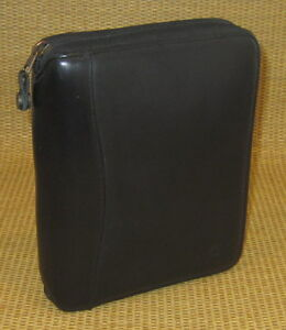 Compact 1 25 Rings Black Nappa Leather Franklin Covey Planner binder Usa