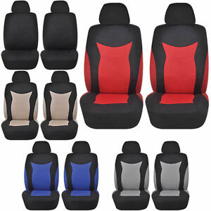 Speed Racing 4pc Low Back Front Car Seat Covers Polyester Universal