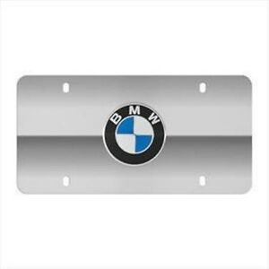 Bmw Stainless Steel Marque License Plate Bmw Logo Polished Stainless Steel