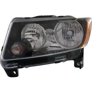 Headlight For 2013 2017 Jeep Compass Left With Bulb And Wiring Harness