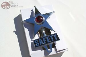 Red Light Safety Star License Plate Topper Ornament Custom Truck Hot Rat Rod New